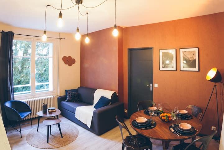 ★ Charmant appartement ★ Chambre séparée ★ 300m de la gare et accès direct au coeur historique