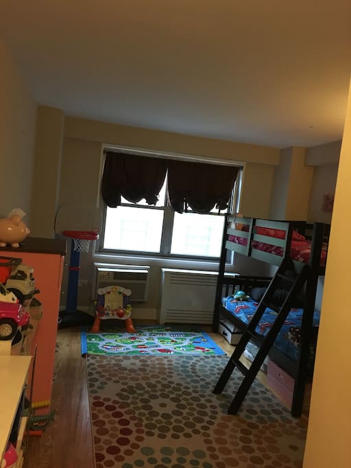 2nd bedroom (kids beds and toys)