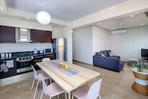 Open Plan Kitchen and Living Room Area