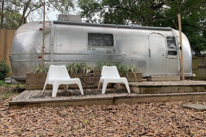 Vintage Airstream in the Heart of Midcity