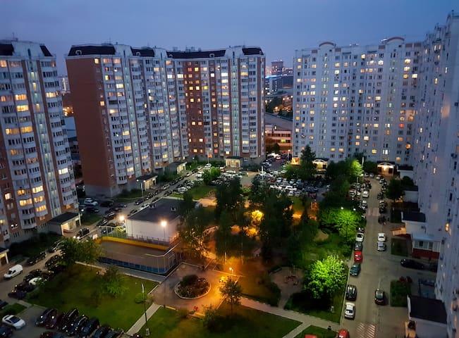 Cozy modern 2-room apartment near metro - Moskva - Daire