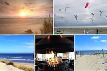 The Cottage is nearby FOUR BEACHES, the most extraordinarily widest of Europe! With pavilions & plenty of space to laze, wind down and for challenging, adventurous wind, beach and water sports. Doing is tough, but watching is just as fun!