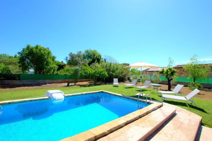 Finca with private pool and basketball