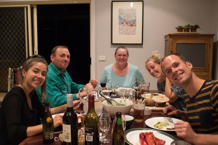 Impromptu AirBnB dinners - our guests sometimes cook for us