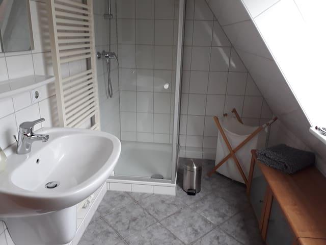 Privates Duschbad, WC 1. OG