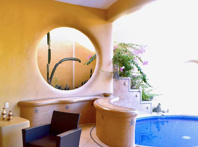 Casa Gema #1 cozy, private bathroom, pool, terrace - Zihuatanejo - Haus