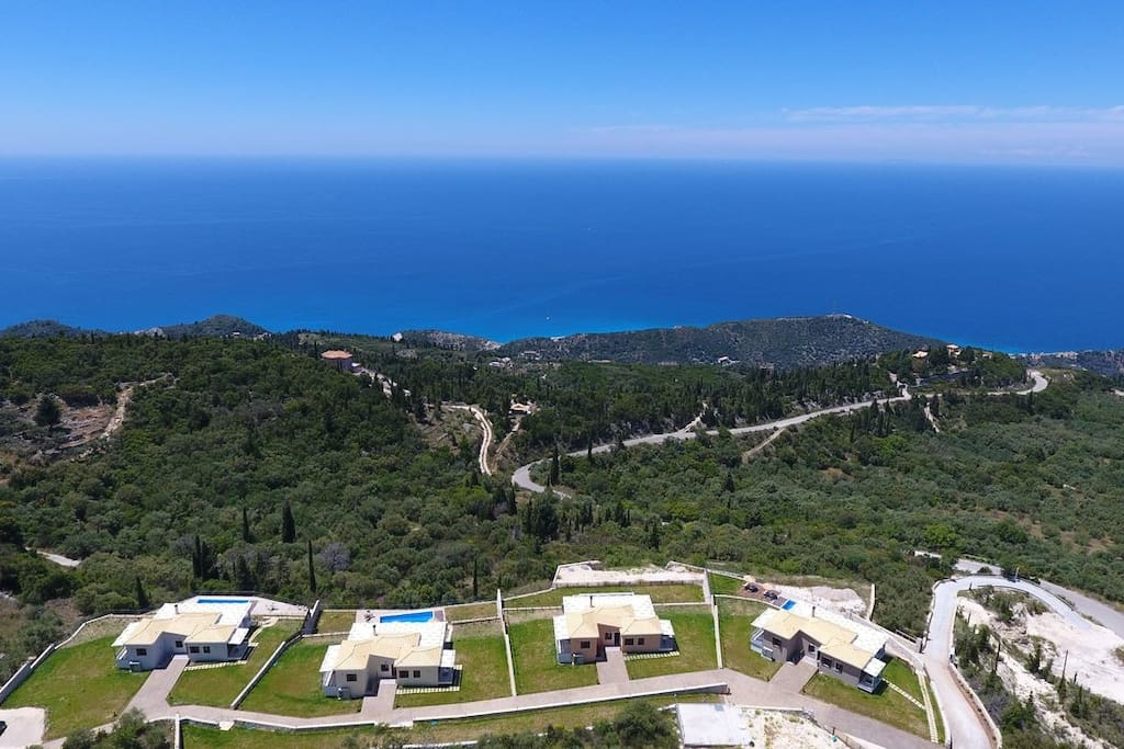 Stunning view from the complex of Luxurious Villas Drimonas