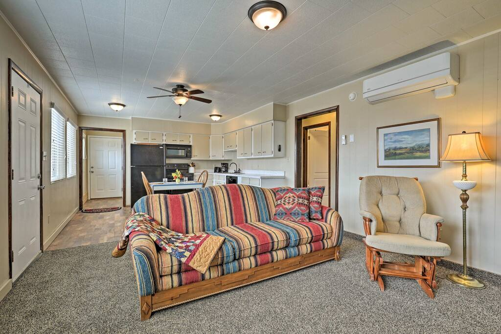 The home comfortably accommodates up to 4 guests.