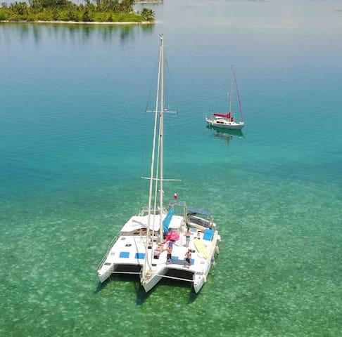 San Blas Paradis feet on the water