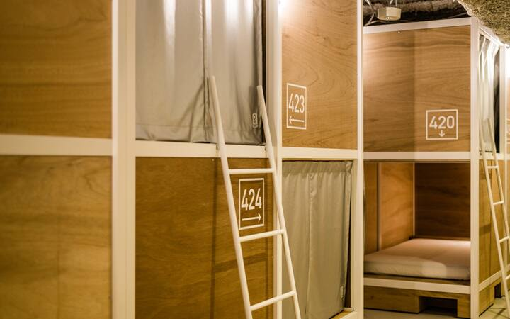 Bunk Bed in Female Dormitory @BUNKA HOSTEL TOKYO