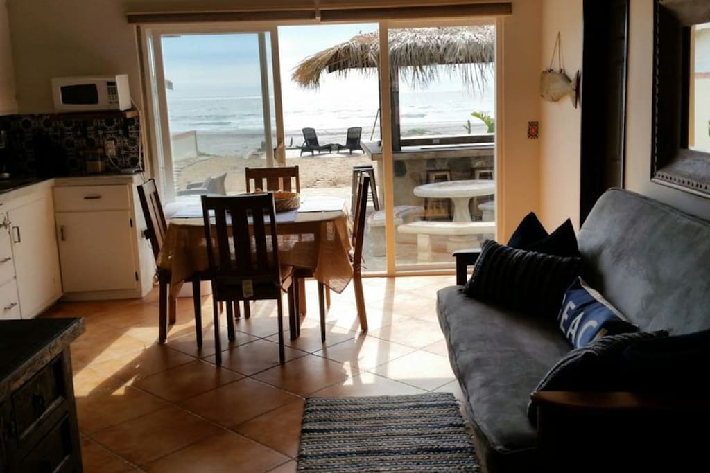 Enjoy the ocean from the living room