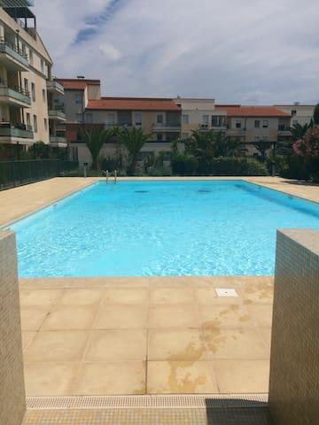 Appt dans residence avec piscine !! - Saint-Estève - Huoneisto