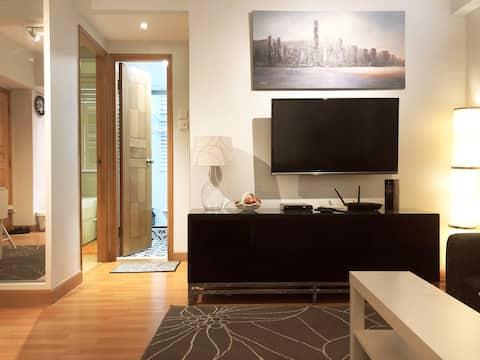 Appartement confortable et moderne pour 4 personnes à Kennedy Town *Remises longue durée *