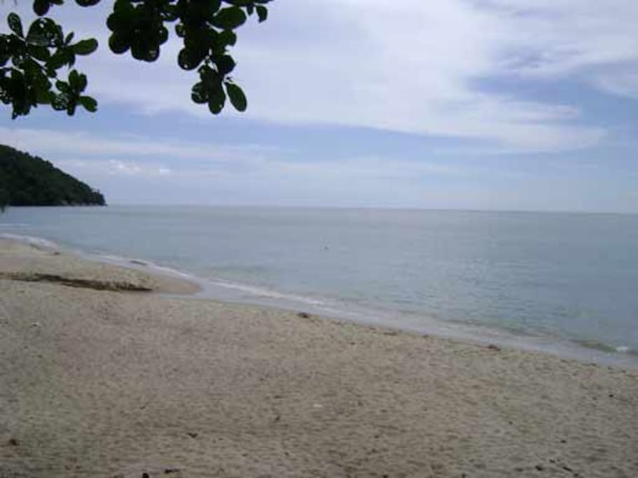 This is Pasir Panjang Beach, which is mostly deserted except on weekends.