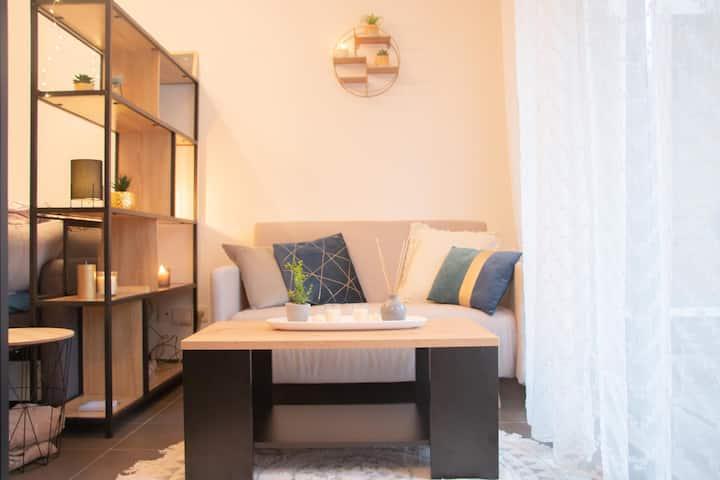 ❤️Joli studio avec jardin proche Confluence ❤️