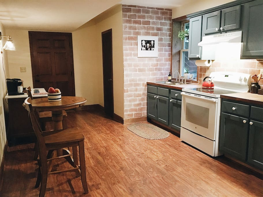 Guests have private use of full-kitchen
