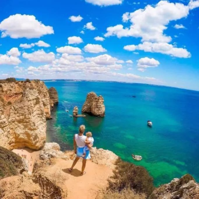 Amazing Ponta da Piedade with its incredible golden cliffs and turquoise waters... A unique place in the Algarve
