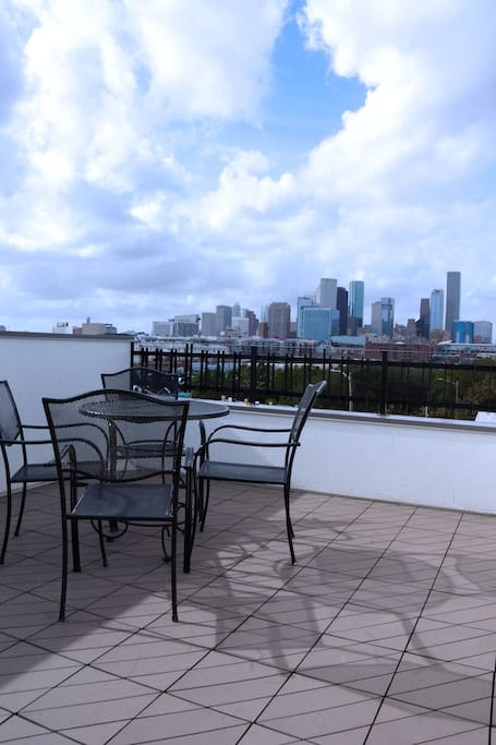 Come and relax overseeing the skyline of Downtown Houston.