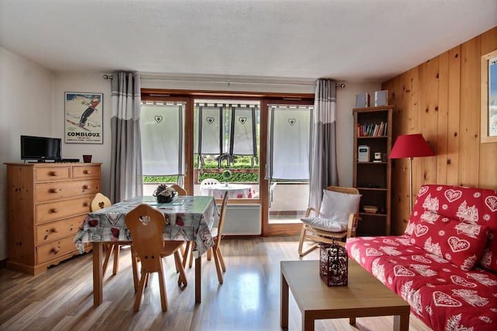 STUDIO APARTMENT WITH SWIMMING POOL ACCESS- SAINT JEAN D'AULPS SKI RESORT - 4 PEOPLE - RIAM 6