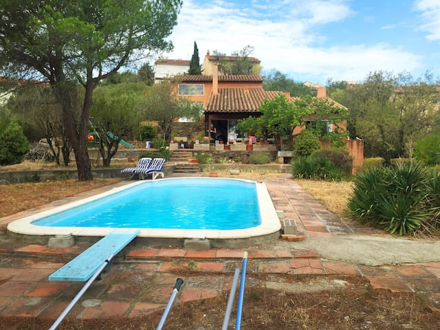 Cosy double room, beautiful gardens with pool - Calce