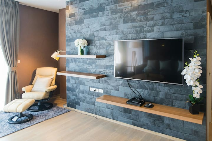 Living area with AIS Playbox & Smart TV