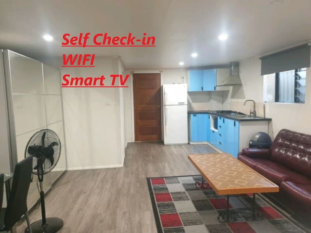 Self Contained Studio with WIFI and smart TV.