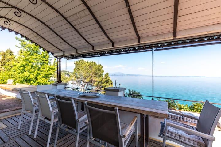 mansarda in villa sul lago - Solarolo - Appartement