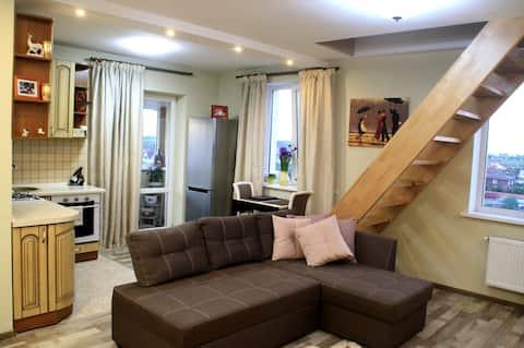 The 2 floor studio-apartment