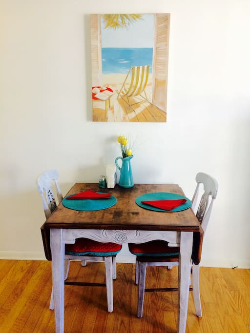 Cute refinished dining table