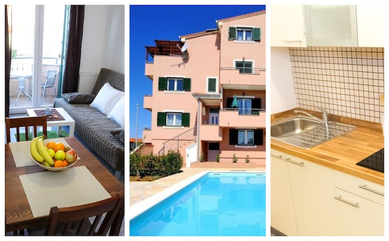 Economy 1Bedroom Suite with Terrace, Pool and WiFi