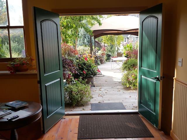 Beautiful double doors to the gardens