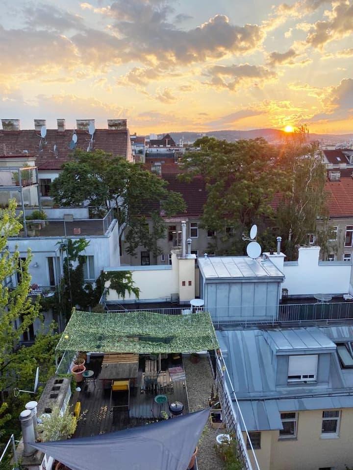 Cosy Zimmer mit Aussicht - Duplex 110m2+Terrasse