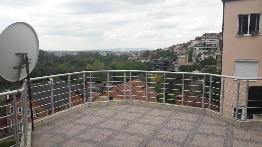 Large balcony apartment near Germia National Park