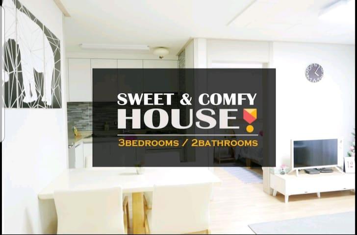 ★Hongdae area★SEOUL☆3bedroom☆2bathroom☆舒适的房子
