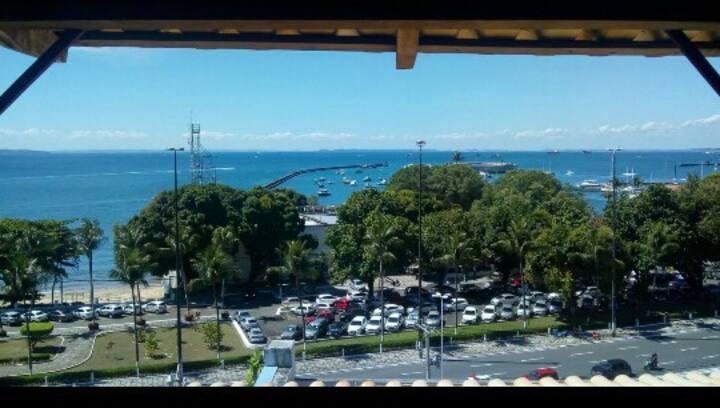 Quarto Gabriela cravo e Canela - vista p/ o mar