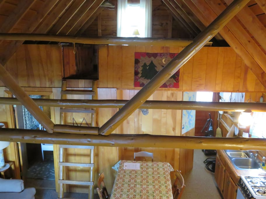 Looking down from the loft.