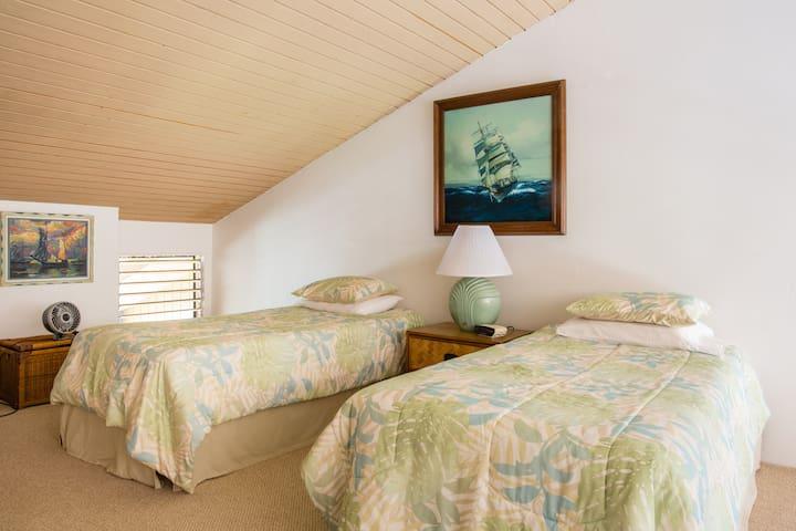Twin Beds and Sofa Sleeper in Loft Bedroom