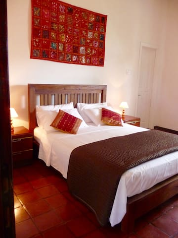 Mountain view room with king size bed