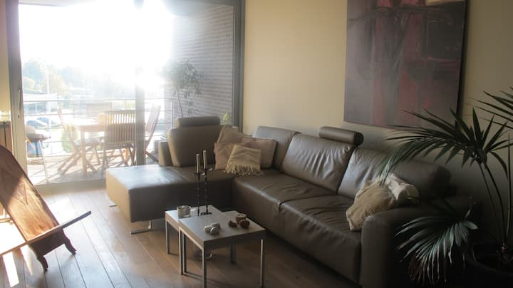 Appartment with riverview and terrace at Lier