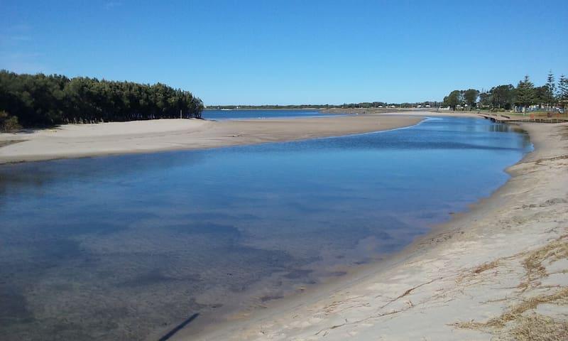 Popular swimming spot at lagoon