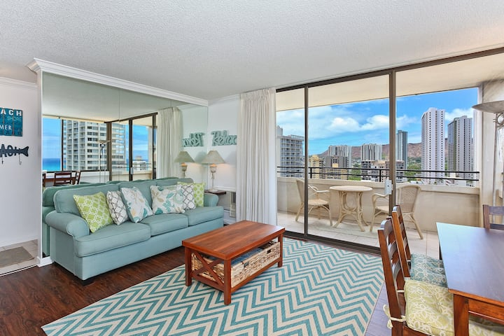 **Professionally Sanitized*Waikiki Sky Tower-Close to Everything+Free Parking - Waikiki Sky Tower Ocean 1 BDR on the 19th Floor A