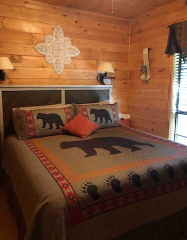 Beautiful king size bed in second bedroom