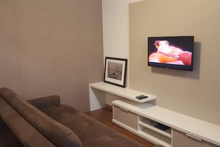 Apartamento moderno e confortável na praça central - Canela - Flat