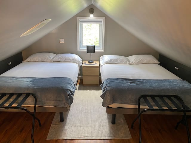 loft with two double beds