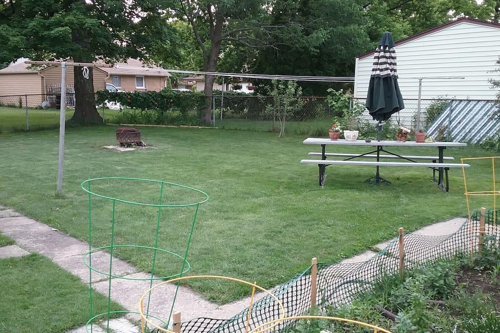 Backyard to enjoy