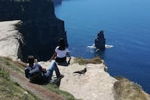 Crazy photography on the Cliffs of Moher