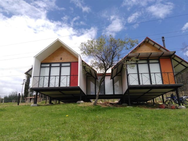 Cabaña biosostenible + zona camping - Paipa