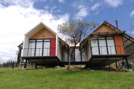 Cabaña biosostenible + zona camping - Paipa - Cabane