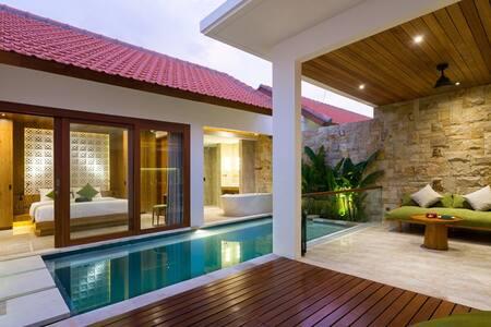 Best Romantic 1 BR Private Pool Villa Sanur Bali