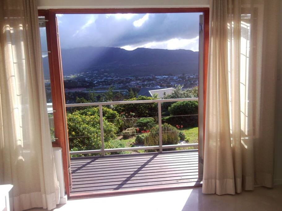 View from Aloe Cottage french doors.